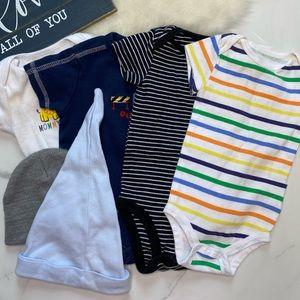 🎉Bundle baby boy bodysuits hat B7-20